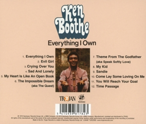 BOOTHE, KEN - EVERYTHING I OWN